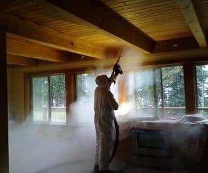 Valymas sausu ledu mediena
